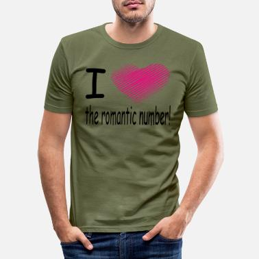 Ripper i love the romantic number / heart - Men's Slim Fit T-Shirt