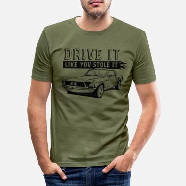 Black And White Collection Drive It - Coupe - Männer Slim Fit T-Shirt