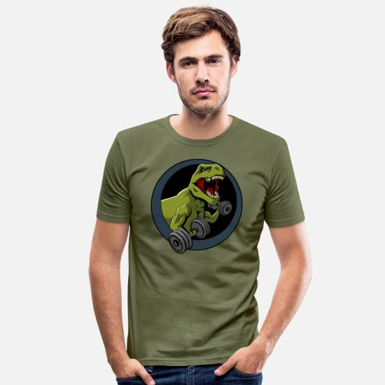Funny T-Shirts - Big Guns Black Backing - Men's Slim Fit T-Shirt khaki green