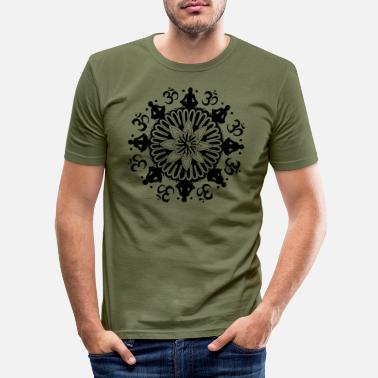 Enlightent Om Mandala - Men's Slim Fit T-Shirt