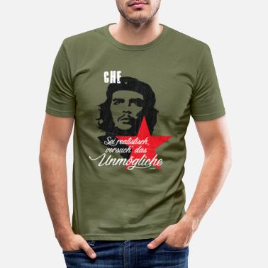 Revolution Che Guevara Saying Try The Impossible - Men's Slim Fit T-Shirt