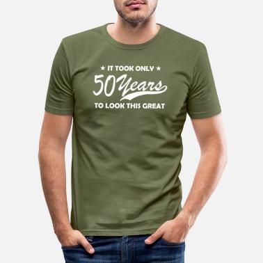 Old 50 years - Men's Slim Fit T-Shirt