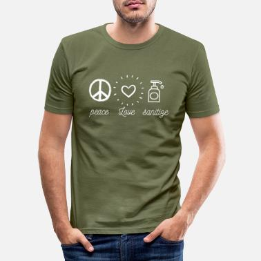 Sanitation peace love sanitize - Men's Slim Fit T-Shirt