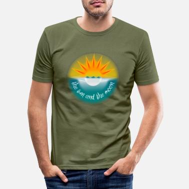 Sonne Sonne und Mond. The sun and the moon. - Männer Slim Fit T-Shirt