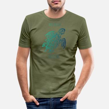 tortoise environmental protection in the sea women premium t - Men's Slim Fit T-Shirt