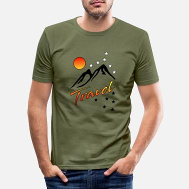Berge - Männer Slim Fit T-Shirt