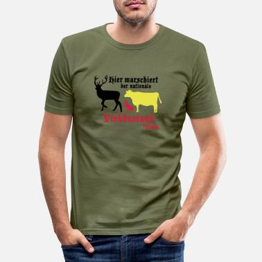 Storch Motiv nationaler Viehbestand - Männer Slim Fit T-Shirt