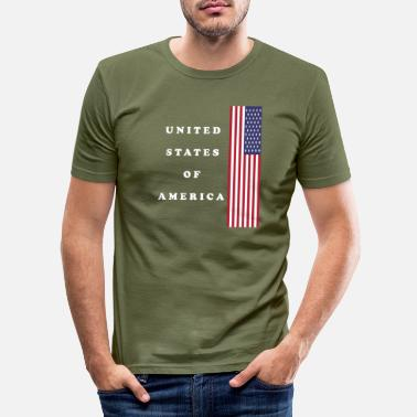 Usa USA USA - Slim fit T-shirt mænd
