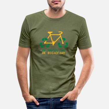 BiCycling Re-Cycling - T-shirt moulant Homme