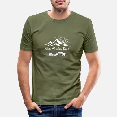 Mountains Rocky Mountain Resort - T-shirt moulant Homme