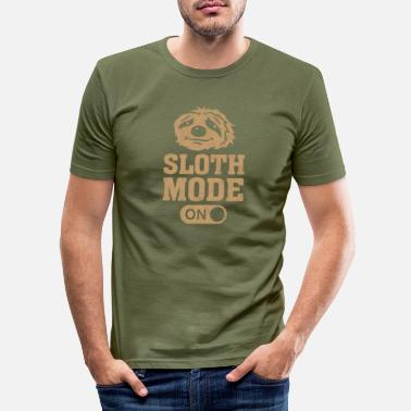 Mode Sloth Mode On Sloth Mode Lounging Chilling - Men's Slim Fit T-Shirt