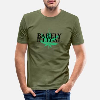 Leaf Hardly illegal - Men's Slim Fit T-Shirt