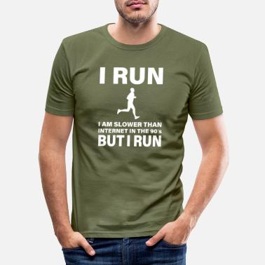 THE SLOWEST RUNNER IN WILD WEST - Men's Slim Fit T-Shirt
