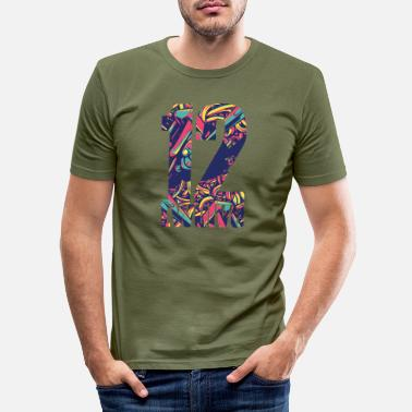 Lucky Number Lucky number 12 - Men's Slim Fit T-Shirt