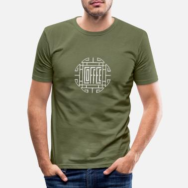 Foot Coffee - Men's Slim Fit T-Shirt