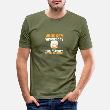 Whiskey Alcohol Whiskey Wednesday Funny Tees Alcoholic - Men's Slim Fit T-Shirt