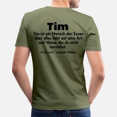 Tim tim - Männer Slim Fit T-Shirt
