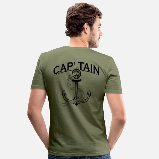 Captain T-Shirts - CAPTAIN - Men's Slim Fit T-Shirt khaki green