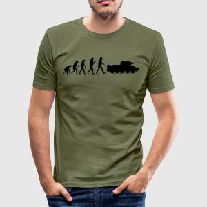 Evolutie Zwart - Männer Slim Fit T-Shirt