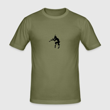 teufel devil pan faun - Männer Slim Fit T-Shirt