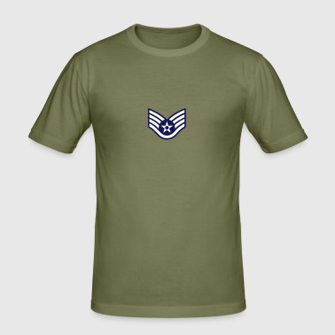 Staff Sergeant SSgt, Mision Militar ™ - Men's Slim Fit T-Shirt