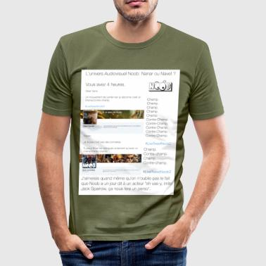 Noob - T-Shirt - Männer Slim Fit T-Shirt