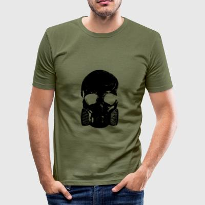 anti gass skallen - Slim Fit T-skjorte for menn