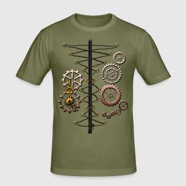corset and cogs - Men's Slim Fit T-Shirt