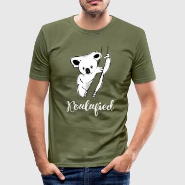 Koala tree save cute bear animal australia lol - Men's Slim Fit T-Shirt
