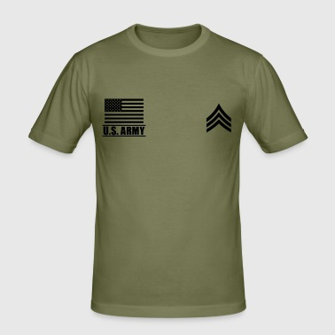 Sergeant SGT US Army, Mision Militar ™ - Men's Slim Fit T-Shirt