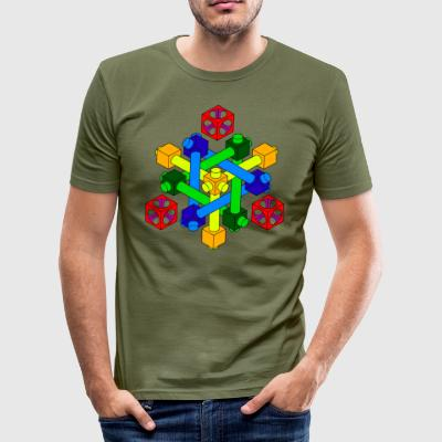 Optisk Illusion Design - Herre Slim Fit T-Shirt