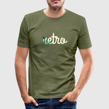 Retro-T-shirt - Herre Slim Fit T-Shirt