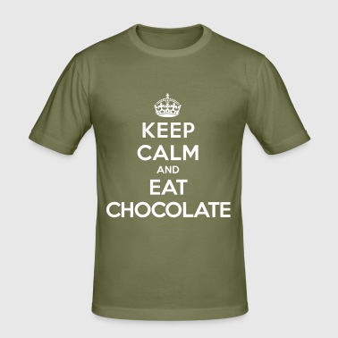 Keep calm and eat chocolate - Men's Slim Fit T-Shirt