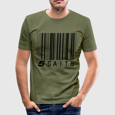 5gaitsBarcode - Tee shirt près du corps Homme