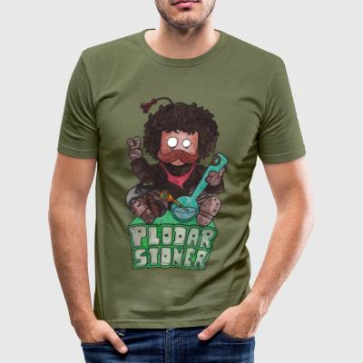 Plodar stoner colored - Men's Slim Fit T-Shirt
