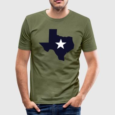 TEXAS State Outline Star - Men's Slim Fit T-Shirt