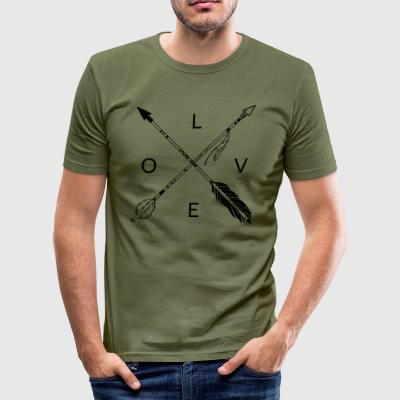 LOVE Indian arrows - Men's Slim Fit T-Shirt