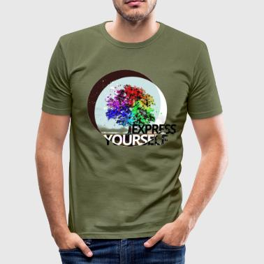 Express yourself - Männer Slim Fit T-Shirt