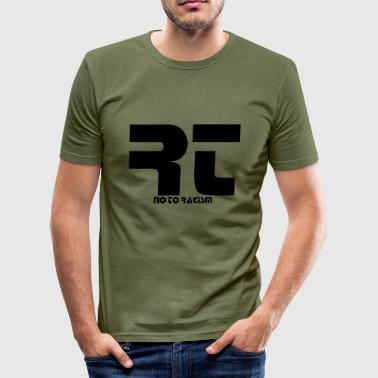 No to Racism - Men's Slim Fit T-Shirt
