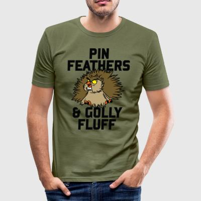 Archimedes - Pin feathers and golly fluff - Men's Slim Fit T-Shirt