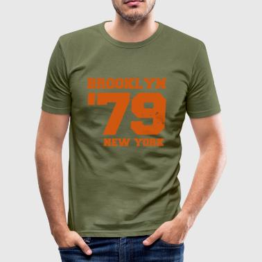 79 Brooklyn NY - Herre Slim Fit T-Shirt