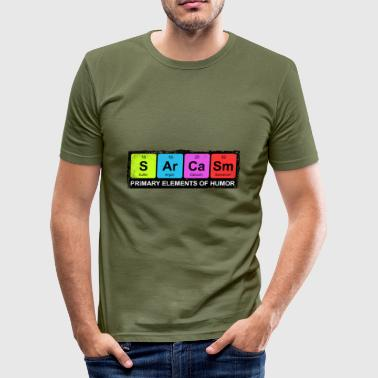 Sarcasm Periodic Elements Of Humor - Männer Slim Fit T-Shirt