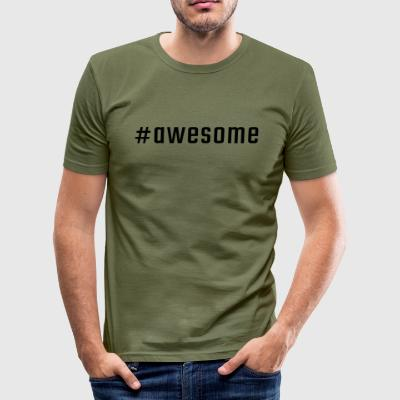 #awesome - Tee shirt près du corps Homme