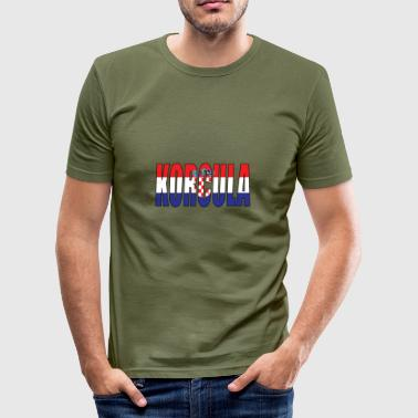 KROATIË KORCULA - slim fit T-shirt