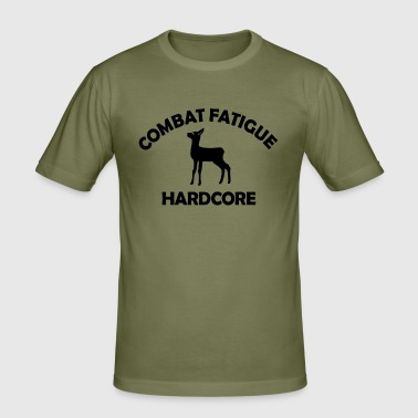 COMBAT FATIGUE HARDCORE - Männer Slim Fit T-Shirt