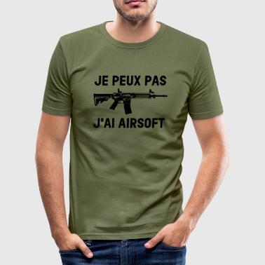 I can not I have airsoft - Men's Slim Fit T-Shirt