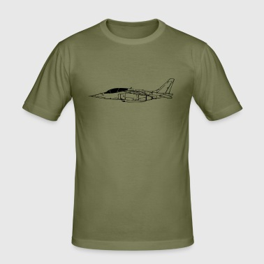 alpha_jet_vec_1 de - Männer Slim Fit T-Shirt