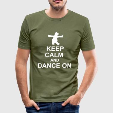 Keep Calm Hippo - Männer Slim Fit T-Shirt