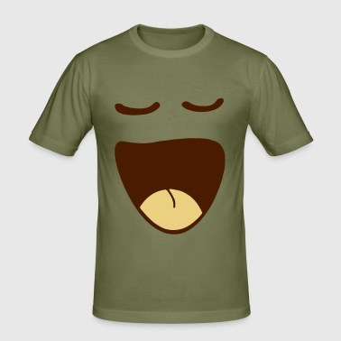 Happy Smile (2c) - Men's Slim Fit T-Shirt