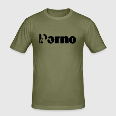 porno - Männer Slim Fit T-Shirt